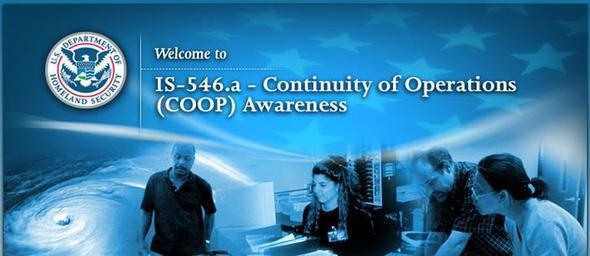 IS-546.A: Continuity of Operations Awareness Course
