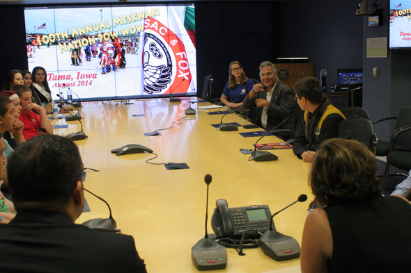 FEMA Meets with Tribal Youth