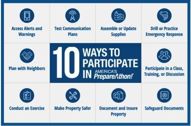 10 Ways to Participate in America's PrepareAthon!
