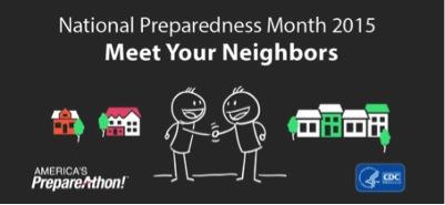 National Preparedness Month 2015. Meet Your Neighbors
