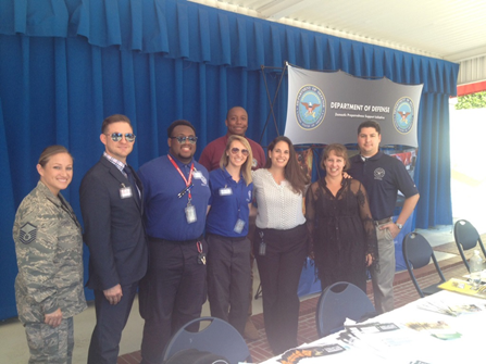 FEMA Corps Members Kerry Boglin and Caitlin von Stein promote preparedness to DOD Employees at the 2015 Pentagon Preparedness Fair.