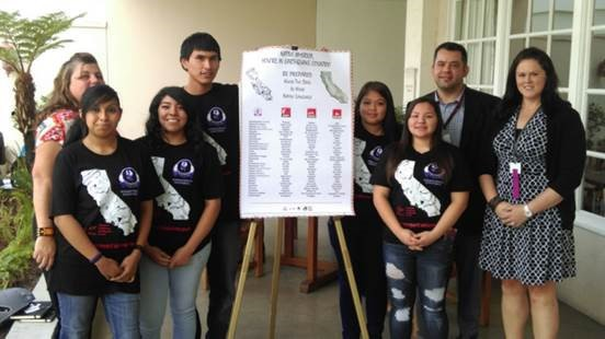 Sherman Indian High School Students Present Native Earthquake Drill Posters at National Congress of American Indians 2015 Annual Convention