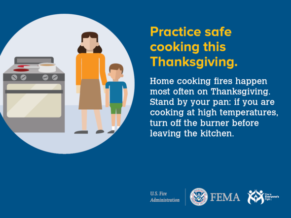 Thanksgiving Home Cooking Fire Safety