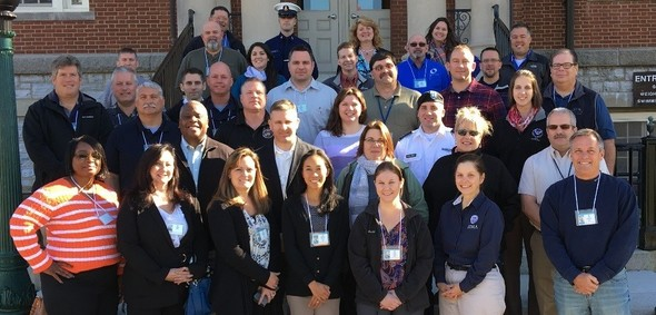 Graduates of the Master Exercise Practitioner Program Series #37 from the National Emergency Training Center campus in Emmitsburg, Md.