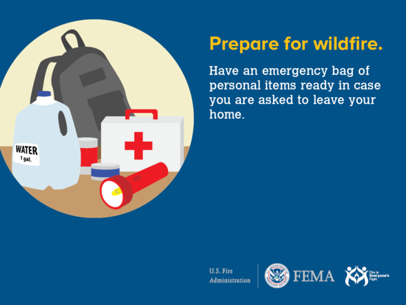 Safety tips: prepare for wildfire.