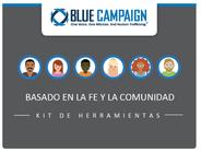 """Kit promotional picture and logo. Kit is in Spanish and says, """"basado en la fe y la comunidad: kit de herramientas."""""""