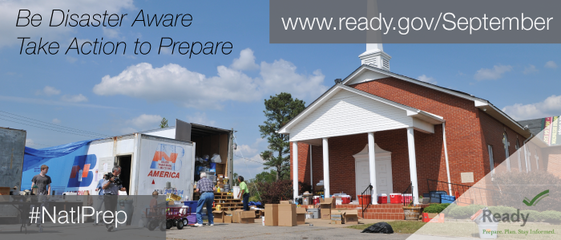 #NatlPrep for Faith Based, Community and Non-Profit Organizations. Be Disaster Aware. Take Action to Prepare