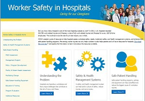 Worker Safety in Hospitals Web page