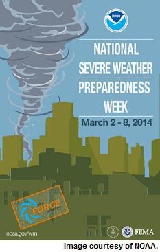 National Severe Weather Preparedness Week poster