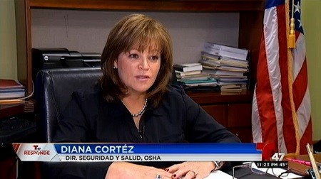 OSHA Area Director Diana Cortez explains worker rights in Telemundo interview
