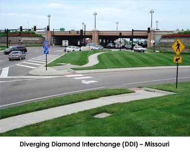 Dorsett Rd. Diverging Diamond Interchange (DDI)