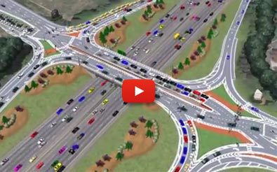 Diverging Diamond Interchange - I-285 Atlanta