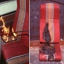 Amtrak seat fire test