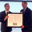 Volpe Director Robert Johns receives GBFEB's Distinguished Federal Executive of the Year.