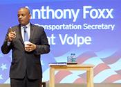 DOT Secretary Anthony Foxx speaks at Volpe.