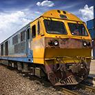 A photo of a train.