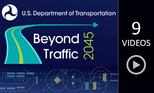 Beyond Traffic 2045: Reimagining Transportation video playlist graphic.