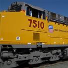 Photo of a Union Pacific train.