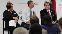 Arne Duncan speaking about AJA at Wake Tech