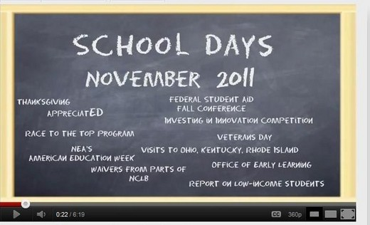"""School Days"" Video Journal"