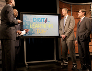 digital learning day sign on stage