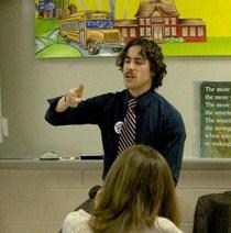 teacher at the board