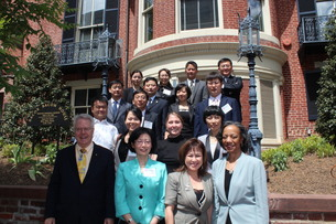 Chinese Delegation with IFLE Staff