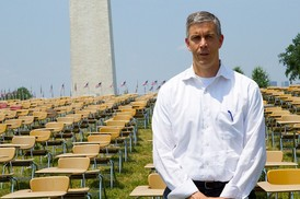 Arne Duncan on National Mall