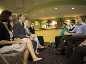 Arne Duncan meets with students from  LGBT community