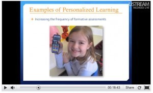 personalized learning slide with student smiling