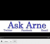 Ask Arne screen