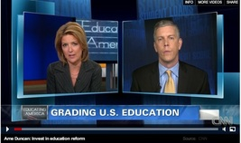 Arne Duncan and Christine Romans on CNN