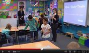 classroom with student teacher and mentor teacher