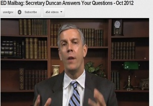 Arne Duncan on You Tube
