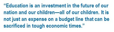Arne Duncan comments on the education budget.