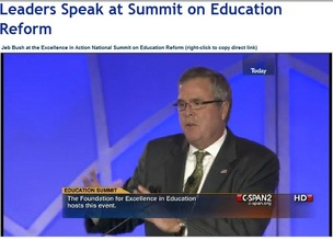 Jeb Bush speaking at Excellence in Action Summit
