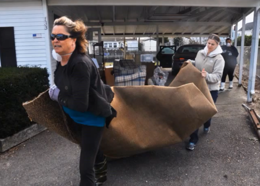 cleaning up after Sandy