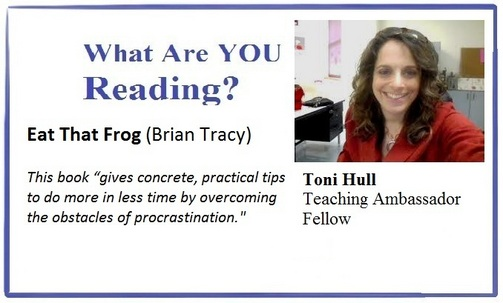 What are you reading, Toni Hull?