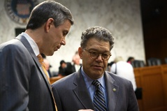 Arne Duncan with Senator Franken