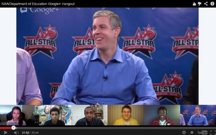Google Hangout with NBA players and student athletes