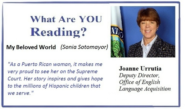 What are you reading, Joanne Urrutia? MY BELOVED WORLD (Sonia Sotomayor)