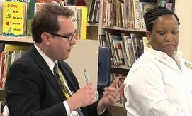 teachers speaking with Arne Duncan