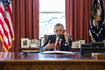 President Obama in Oval Office