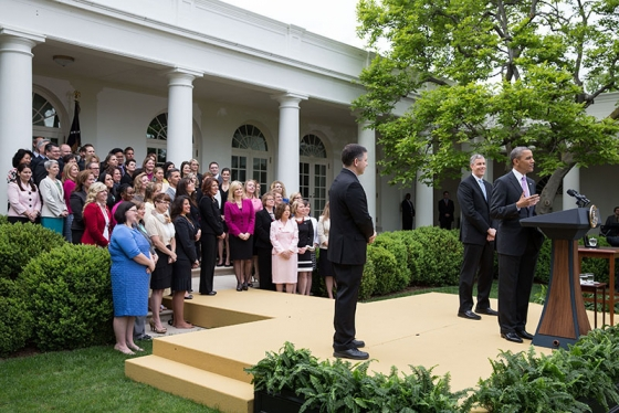 Teachers of the Year in the Rose Garden with President Obama and Secretary Duncan