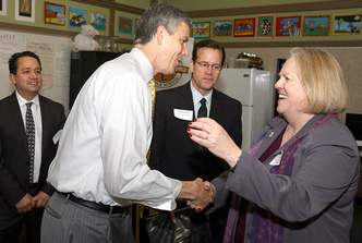Arne Duncan with educators