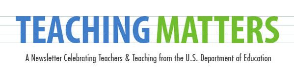 Teaching Matters banner