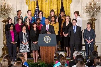 President Obama and women advocates