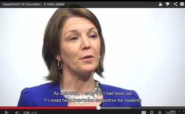 teacher talking in It Gets  Better video