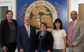Miami Dade College Visit with ED and the WHIEEH