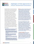 State Strategies for School Turnaround Governance